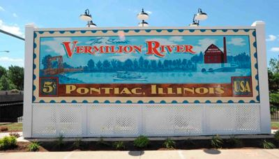Vermilion River and Old Mill Mural