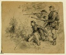 Three Soldiers in Action