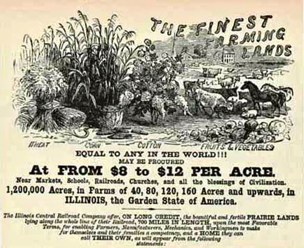 Illinois Land Sale Poster