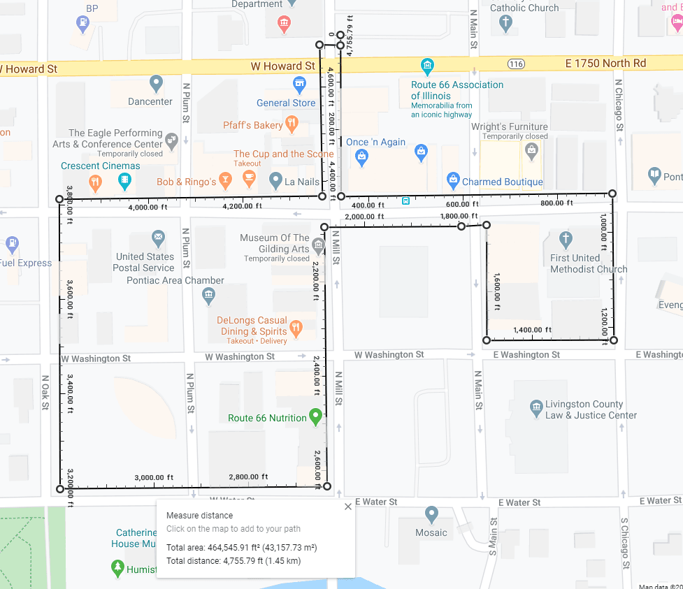 Map of Downtown Loop Walking Tour