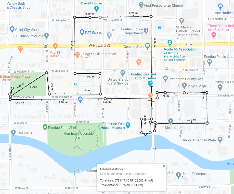 Map of Lincoln Loop Walking Tour