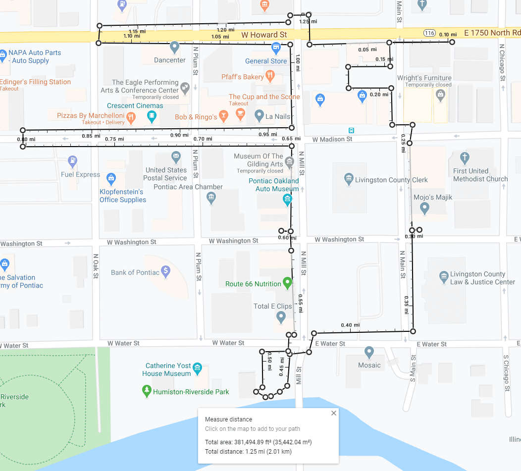 Map of Mural Loop Walking Tour