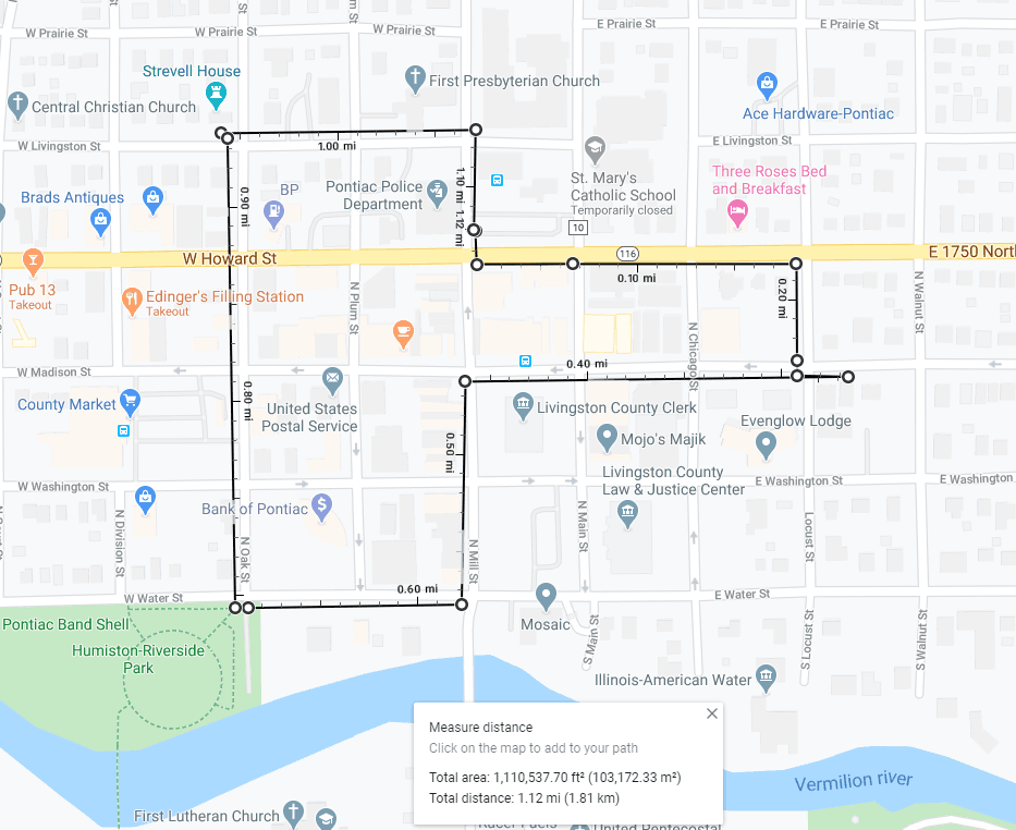 Map of Museum and Historical Homes Walking Tour
