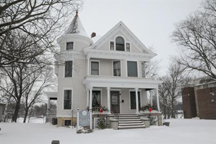 Yost House Museum in Winter