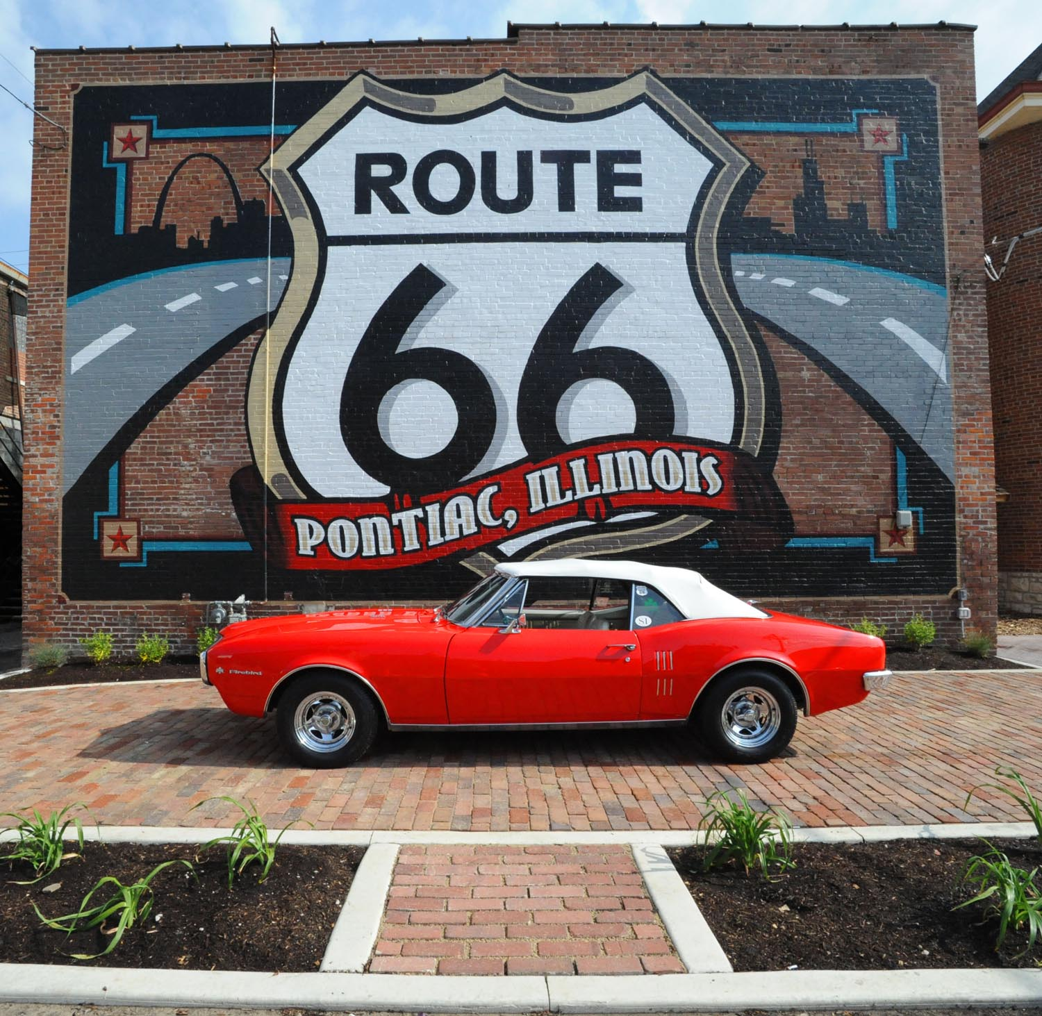 1967 FIREBIRD in front of Route 66 Mural