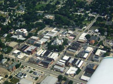 Bird's Eye View of Downtown Pontiac