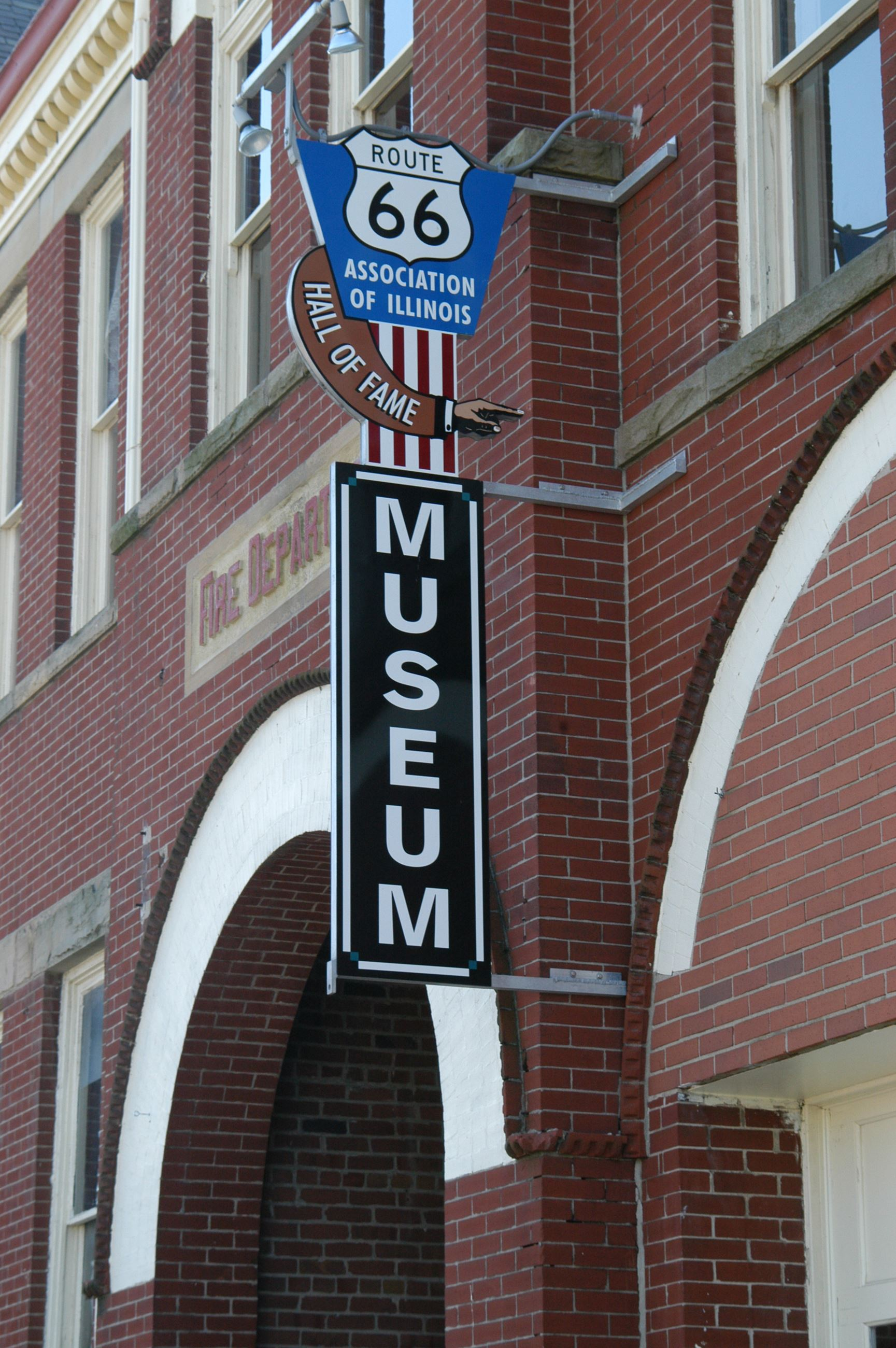 Route 66 museum sign