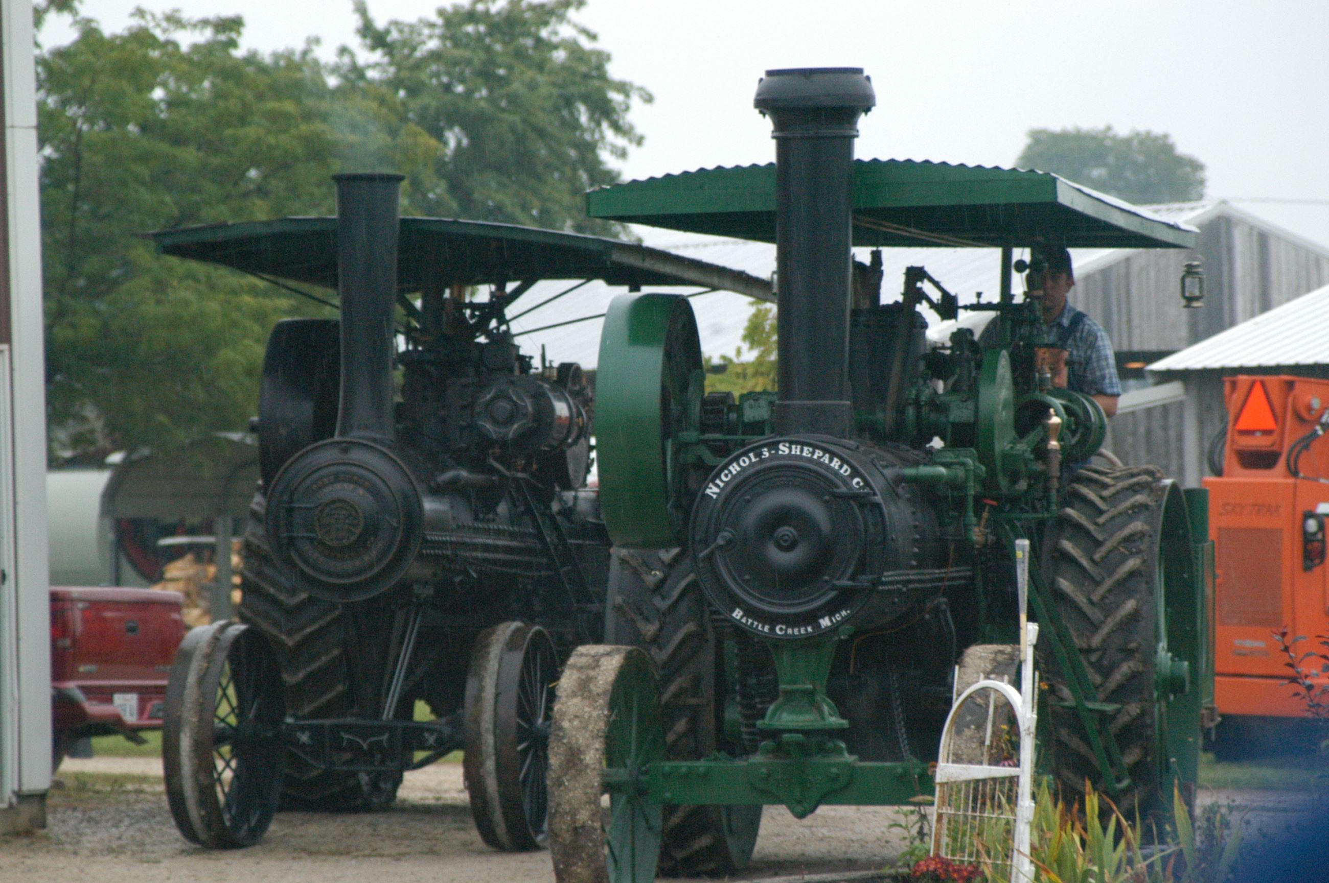Two Steam Powered Tractors