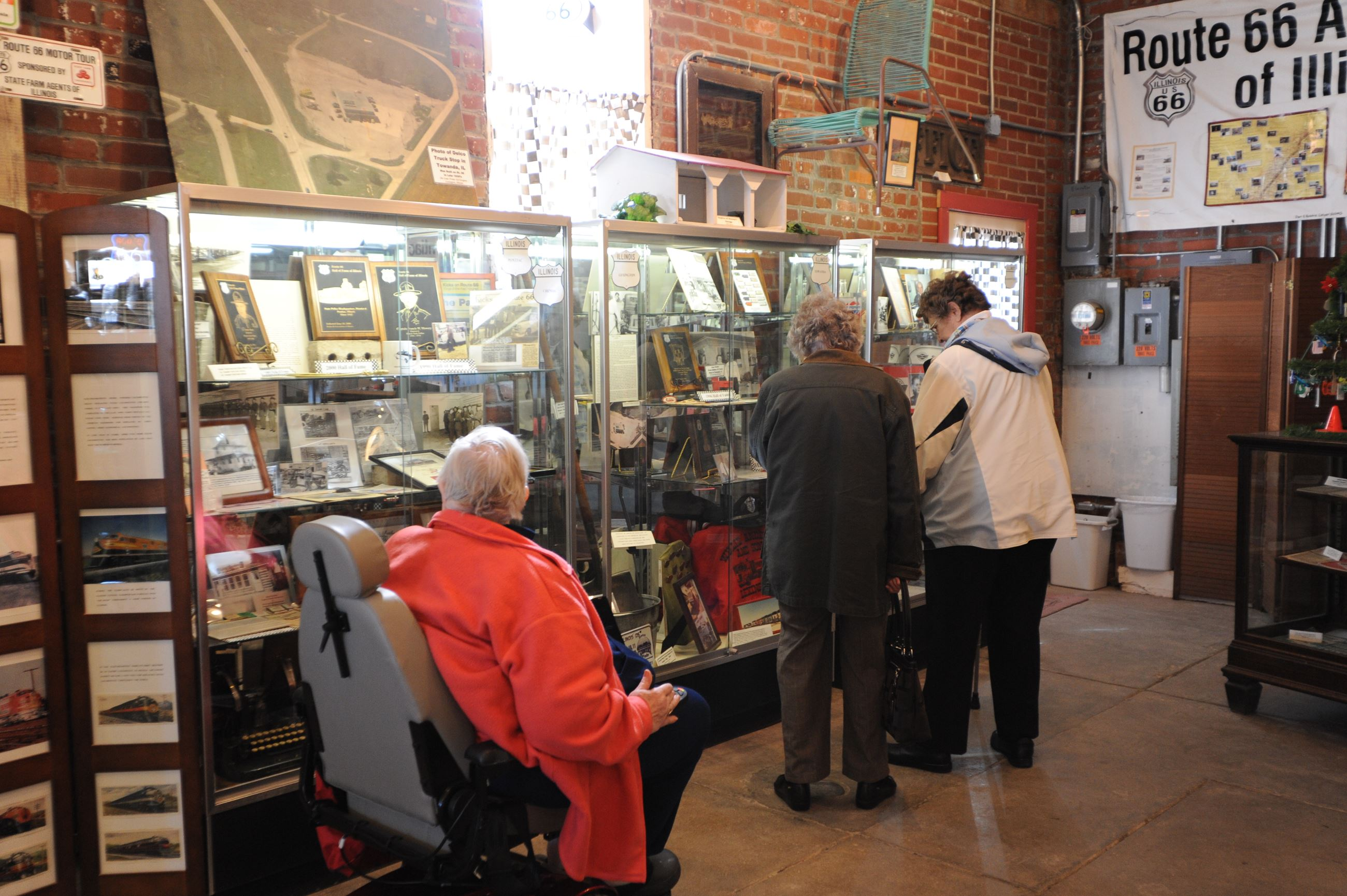 Visitors explore displays at Route 66 Museum