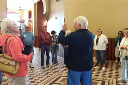 Historical Society President Gives Tour