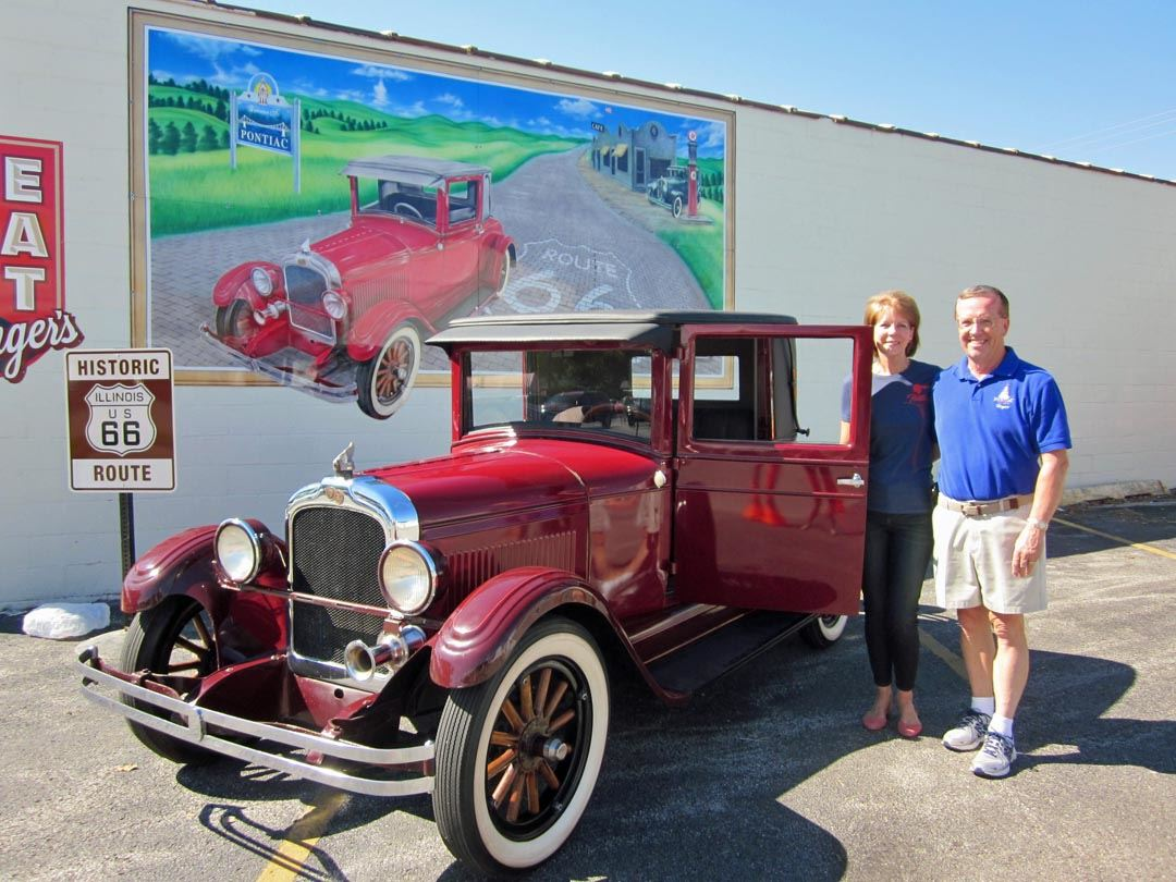 Mayor and Mrs. Russell at the 1926 Mural