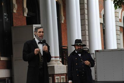 Abe Lincoln and General Grant Speak