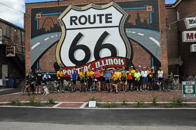 Route 66 Trail Bike Riders in Pontiac