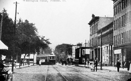 Washington Street with Street Car