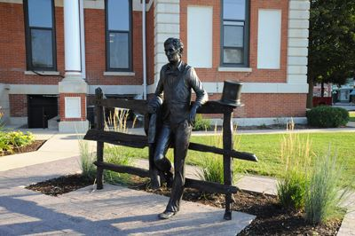The Lincoln Statue in the Livingston County Courthouse Square