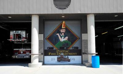 A mural painted at the fire house