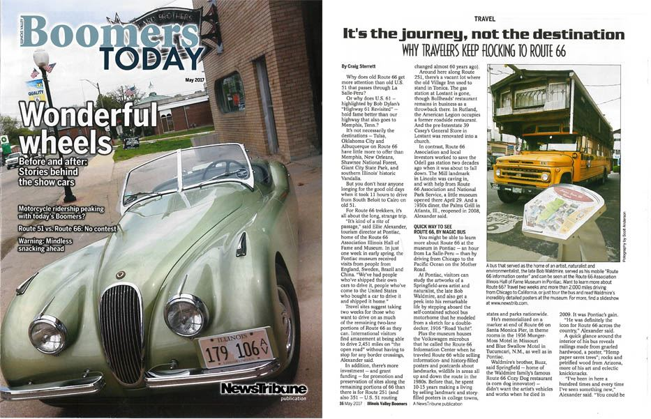 Boomers Today Route 66 article